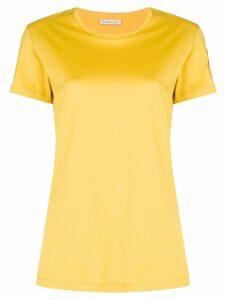 Moncler logo patch T-shirt - Yellow