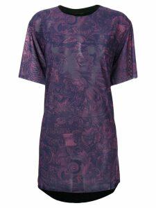 Diesel floral print T-shirt - Purple