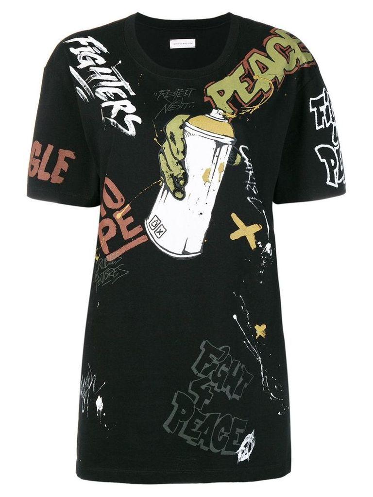 Faith Connexion graffiti print T-shirt - Black