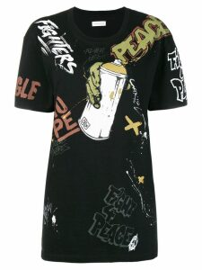 Faith Connexion graffiti print T-shirt - Black