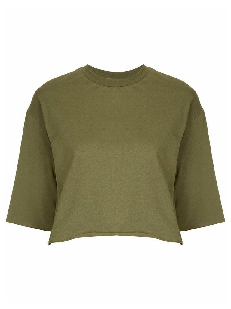 Guild Prime raw hem cropped T-shirt - Brown