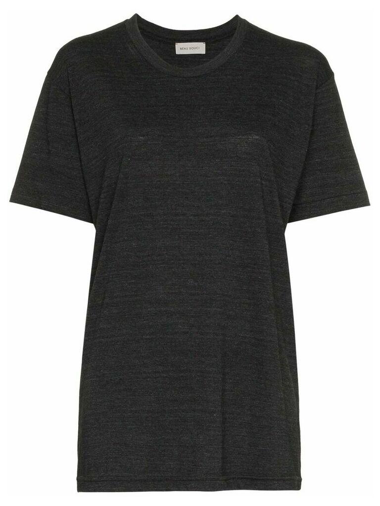 Beau Souci short sleeve cotton t-shirt - Grey