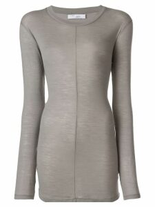 Iro longline fitted top - Grey
