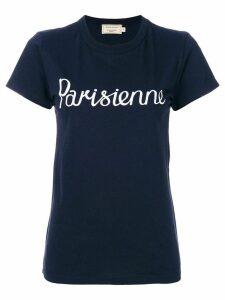 Maison Kitsuné slogan T-shirt - Blue
