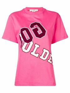 Golden Goose front printed T-shirt - Pink