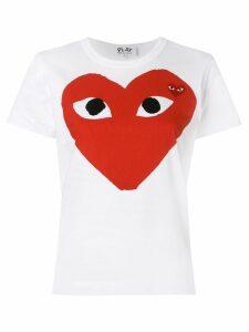 Comme Des Garçons Play heart eyes T-shirt - White
