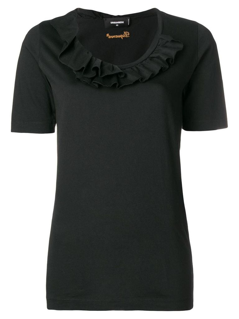Dsquared2 ruffled trim T-shirt - Black