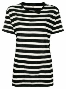 R13 striped T-shirt - Black