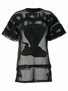 KTZ poison cobra embroidered mesh T-shirt - Black