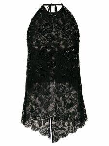 Stella McCartney sequin-embellished lace top - Black