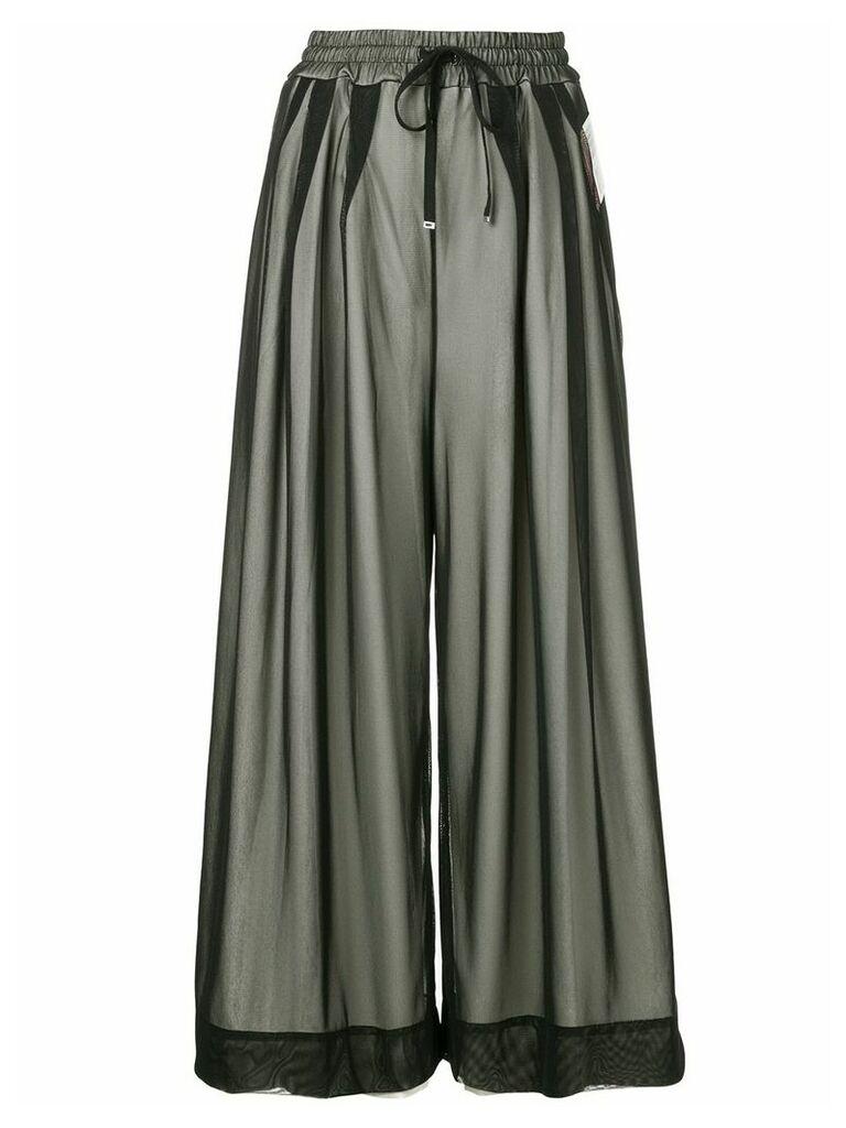 Maison Mihara Yasuhiro drawstring layered skirt - Black