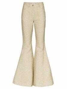 Rosie Assoulin flared trousers - Metallic