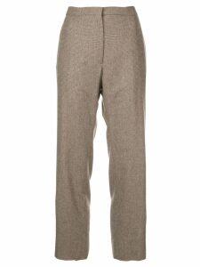 Rochas Nmario checked trousers - Brown