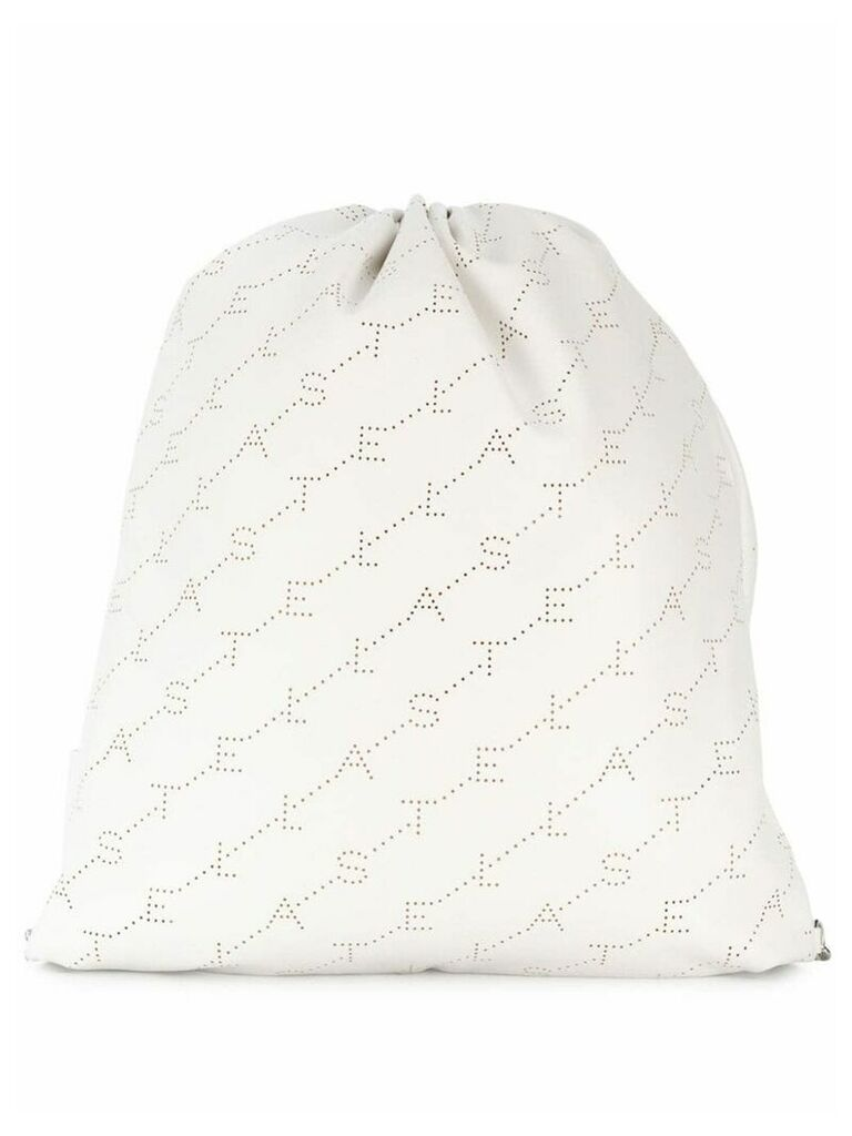 Stella McCartney logo drawstring backpack - White