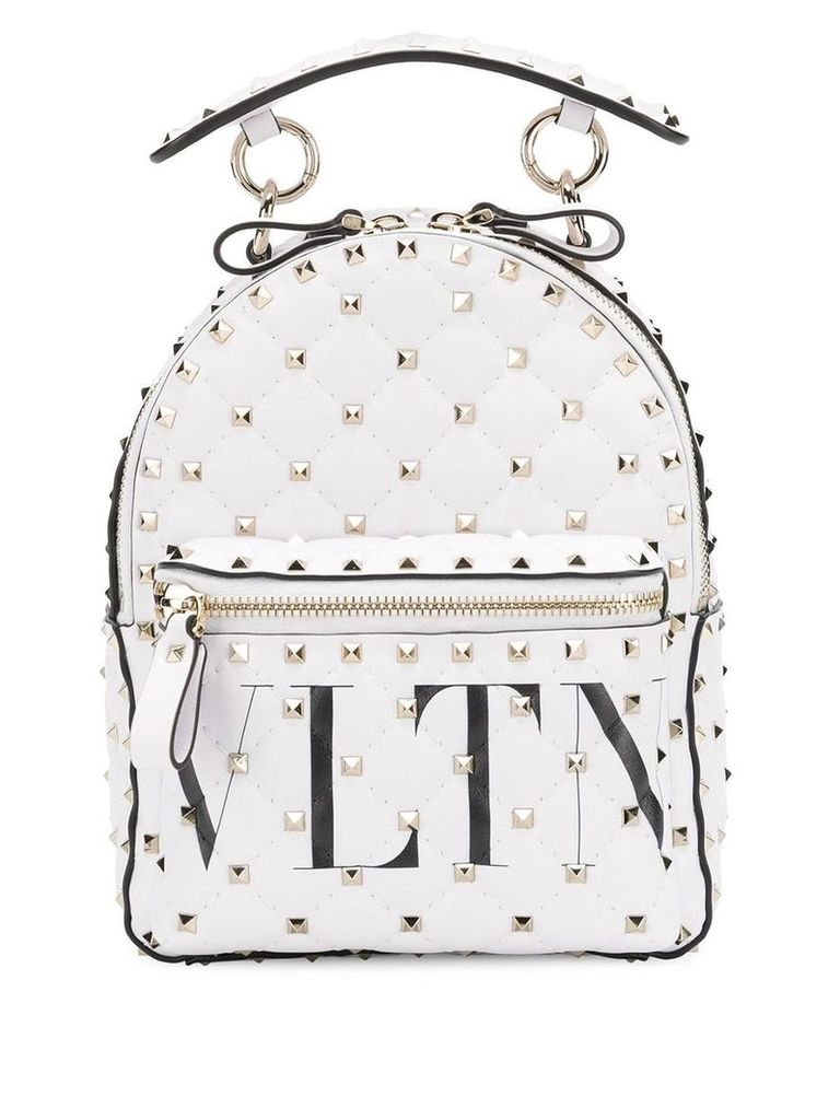 Valentino Valentino Rockstud backpack - White