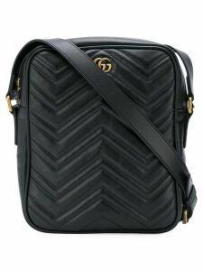 Gucci textured logo messenger bag - Black