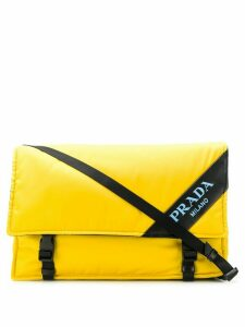 Prada logo messenger bag - Yellow