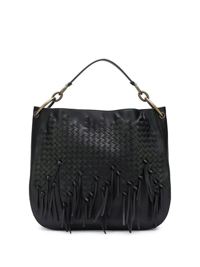 Bottega Veneta intrecciato shoulder bag - Black