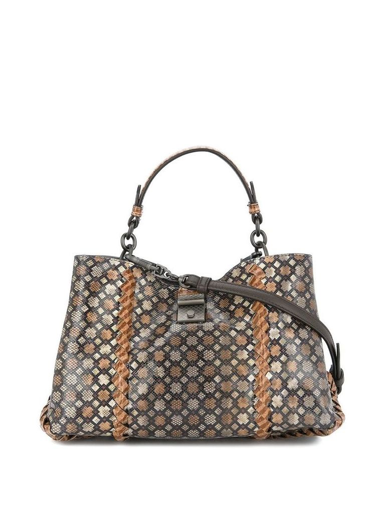 Bottega Veneta camel Intrecciato nappa small napoli bag - Brown