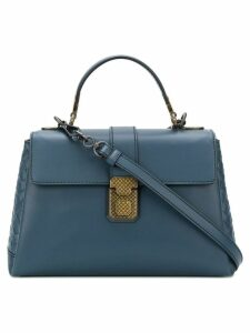 Bottega Veneta denim calf small piazza bag - Blue