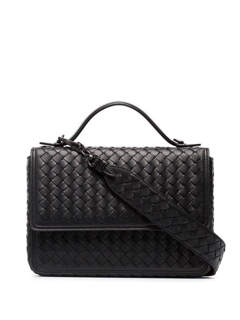Bottega Veneta Black leather alumna shoulder bag