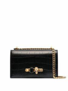 Alexander McQueen leather jewelled satchel - Black