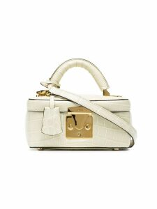 Stalvey ivory Beauty Case 1.7 crocodile leather bag - Neutrals