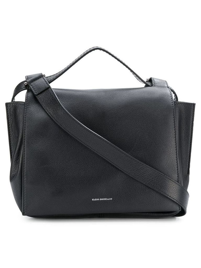 Elena Ghisellini fold over top tote - Black