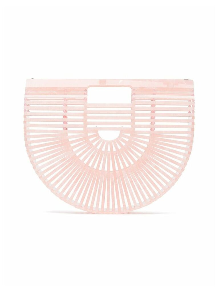 Cult Gaia Pink Small Ark acrylic Bag - Green