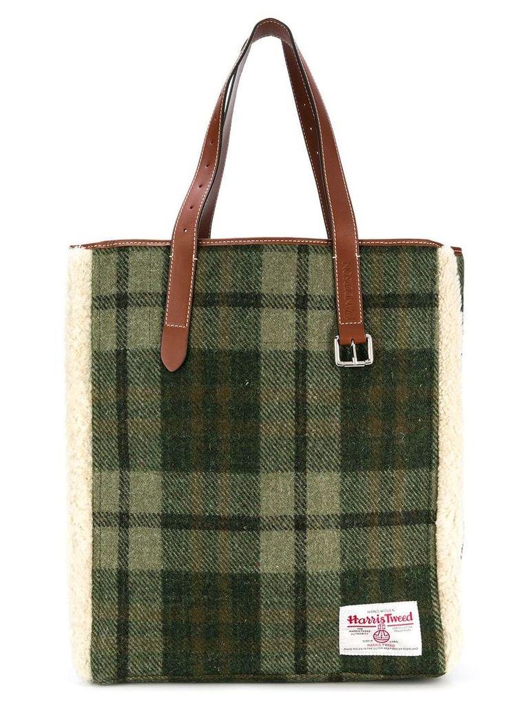 JW Anderson Harris Tweed tote bag - Green