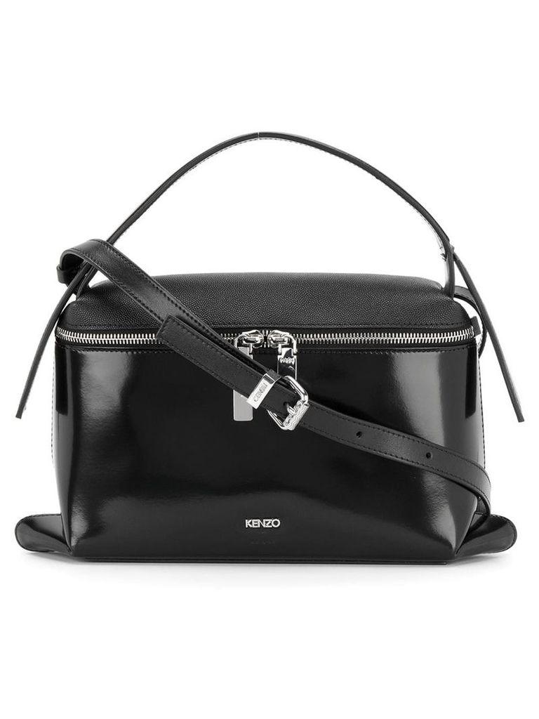 Kenzo zipped boxy tote - Black