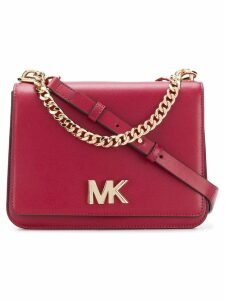 Michael Michael Kors logo flap shoulder bag - Red