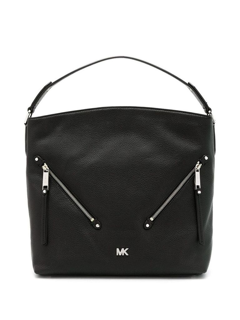 Michael Michael Kors front zipped tote bag - Black