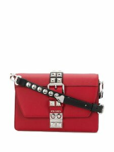 Prada Elektra studded crossbody bag - Red