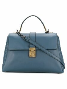 Bottega Veneta denim calf medium piazza bag - Blue