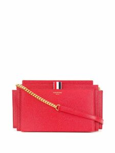 Thom Browne chain strap accordion clutch - Red