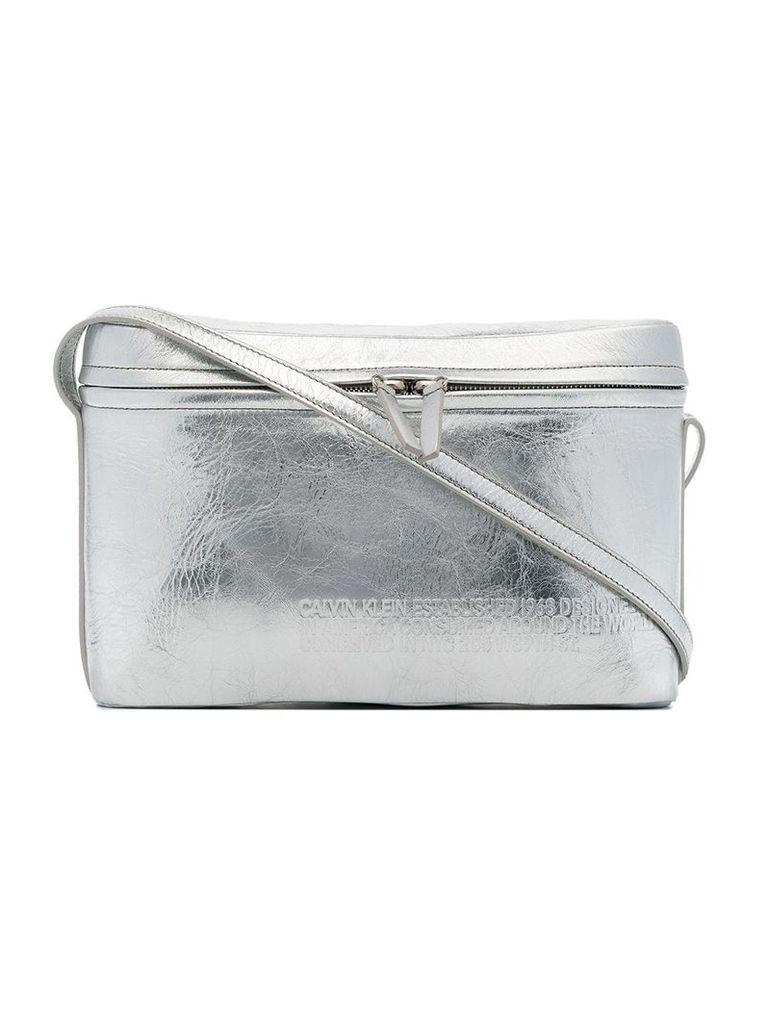 Calvin Klein 205W39nyc Silver Leather Crossbody Bag - Metallic