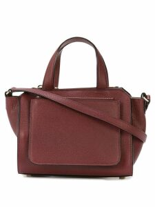 Valextra top handle satchel bag - Red