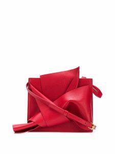 Nº21 shoulder bow bag - Red