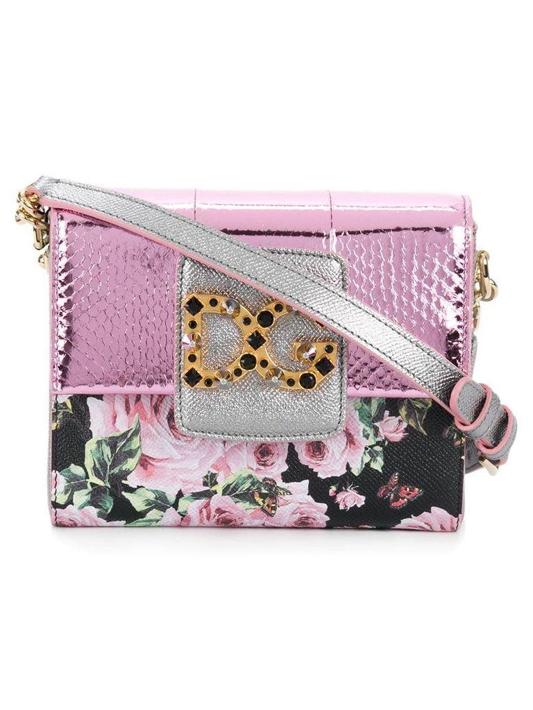 Dolce & Gabbana DG Millenials floral shoulder bag - Pink