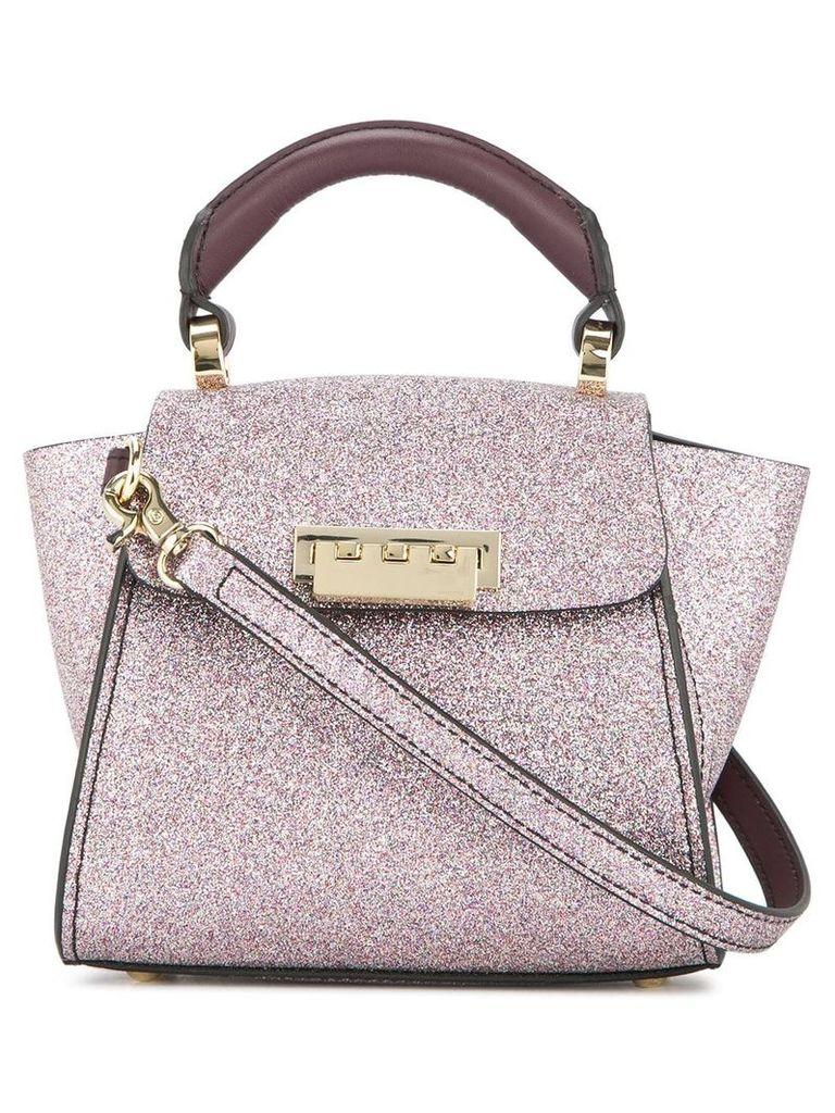 Zac Zac Posen Eartha Iconic mini glitter top handle bag - Pink