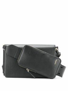 Lanvin logo embossed crossbody bag - Black