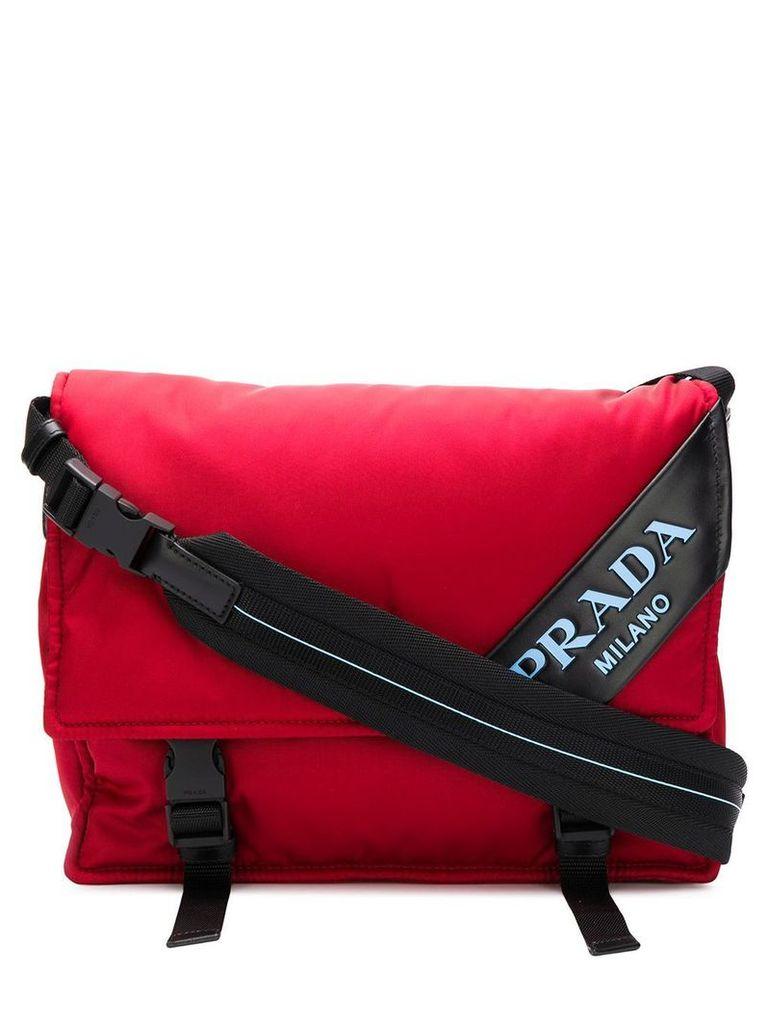 Prada logo messenger bag - Red
