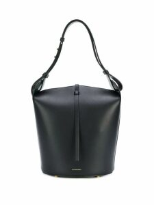 Burberry The Medium Leather Bucket Bag - Black