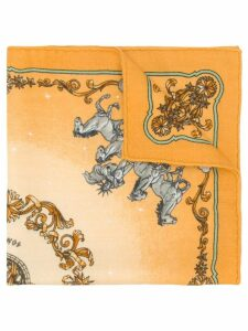 Hermès Pre-Owned cashmere horses print scarf - Yellow
