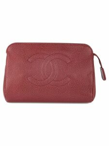 Chanel Pre-Owned CC cosmetic pouch - Red