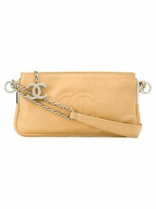 Chanel Pre-Owned logo shoulder bag - Brown