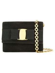 Salvatore Ferragamo Pre-Owned Vara Bow chain shoulder bum bag - Black