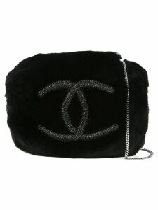 Chanel Pre-Owned bead CC arm sleeve chain shoulder bag - Black