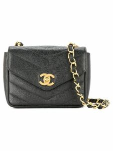 Chanel Pre-Owned V-stitch CC single chain shoulder bag - Black